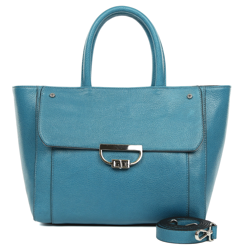Сумка женская Palio, цвет: темно-бирюзовый. 15052A1-W1-866/8143-47670-00504Изысканная женская сумка Palio выполнена из натуральной пористой кожи, которая держит форму и имеет невероятно мягкую и приятную на ощупь фактуру. Элегантный синий оттенок, лаконичный дизайн, удобное крепление ручек и модная фурнитура придадут вашему образу нотки изящности, а также подчеркнут неповторимый и уникальный стиль. Сумка имеет одно вместительное отделение, которое разделено на два отсека карманом на молнии. Внутри сумки вы с легкостью сможете расположить свой сотовый телефон и другие женские мелочи с помощью удобных и вместительных карманов. Модель вмещает папки и документы формата A4, в комплекте имеется ремень, с помощью которого аксессуар можно носить на плече