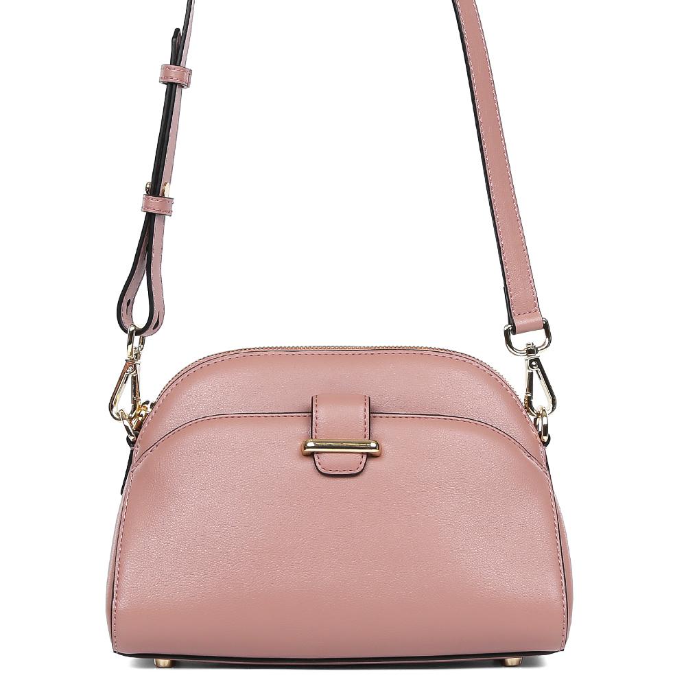 Сумка женская Leo Ventoni, цвет: розовый. 23004493BM8434-58AEСумка женская бренда Leo Ventoni выполнена из натуральной кожи. Модель с одним отделением, застегивается на молнию. Передняя стенка дополнена объемным карманом. Сумка оснащена наплечным ремнем.