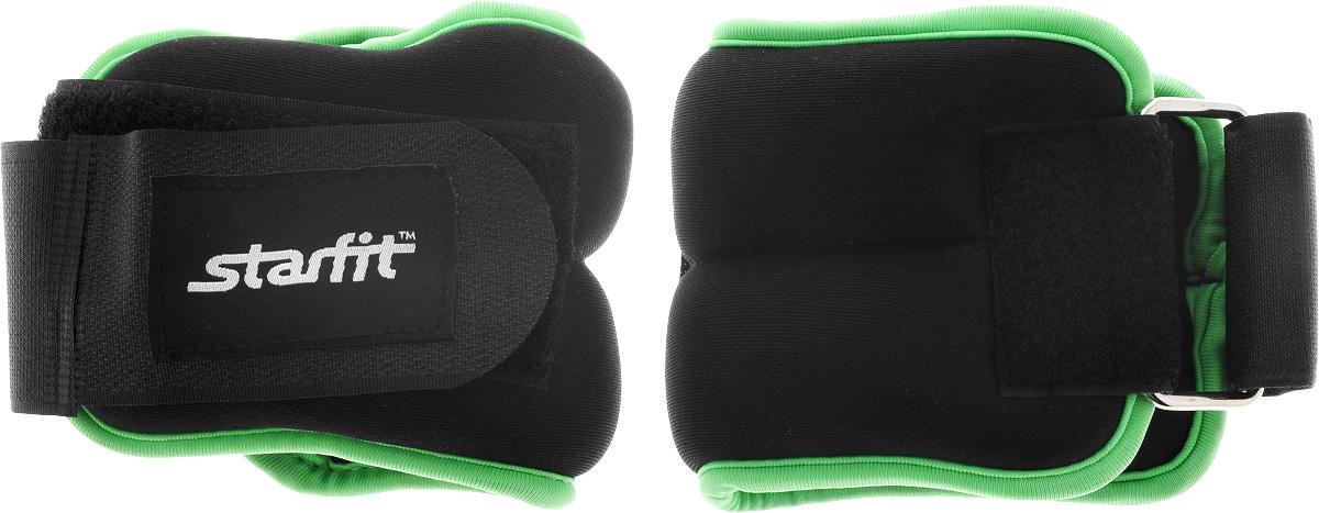 Утяжелители универсальные  Starfit , цвет: черный, зеленый, 500 г, 2 шт - Товары для фитнеса