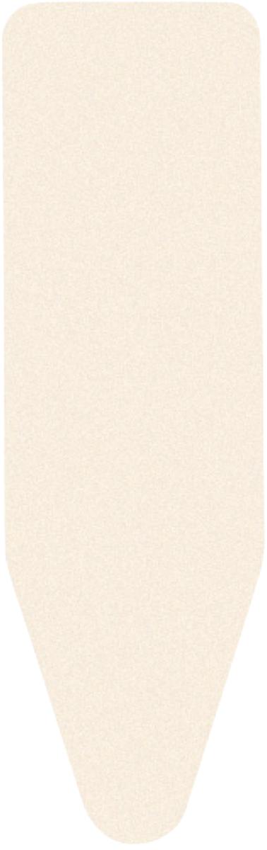 Чехол для гладильной доски Brabantia, цвет: молочный, 135 см х 49 см. 124440GC220/05Чехол для гладильной доски Brabantia Perfect Fit, одна сторона которого выполнена из хлопка,другая - из поролона, предназначен для защиты или замены изношенного покрытиягладильной доски. Чехол снабжен стягивающим шнуром, при помощи которого вылегко отрегулируете оптимальное натяжение чехла и зафиксируете его на рабочейповерхности гладильной доски.В комплекте имеются ключ для натяжения нити и резинка с крючками для лучшейфиксации чехла.Этот качественный чехол обеспечит вам легкое глажение.Размер чехла: 135 см х 49 см.Толщина чехла: 2 мм.