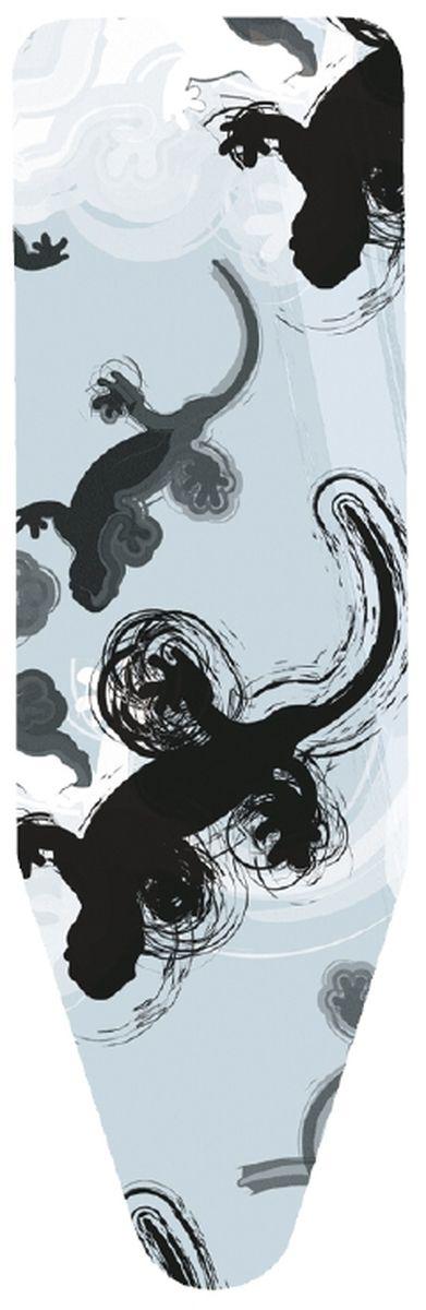 Чехол для гладильной доски Brabantia, цвет: белый, голубой, 110 х 30 см194801Чехол для гладильной доски Brabantia, выполненный из хлопка, с красочным принтом, подарит вашей доске новую жизнь и создаст идеальную поверхность для глажения и отпаривания белья. Чехол разработан специально для гладильных досок Brabantia и подходит для большинства утюгов и паровых систем. Благодаря системе фиксации (эластичный шнурок с ключом для натяжения и резинка с крючками по центру) чехол легко крепится к гладильной доске, а поверхность всегда остается гладкой и натянутой. С помощью цветной маркировки на чехле и гладильной доске вы легко подберете чехол подходящего размера.Комплектация: - чехол, - пластиковый ключ для натяжения шнурка, - резинка с крючками.