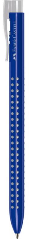 Faber-Castell Ручка шариковая Grip 2022 цвет корпуса синий2010440Шариковая ручка Faber-Castell Grip 2022 имеет запатентованную антискользящую зону захвата с малыми массажными шашечками.Эргономичная трехгранная форма, качественный нажимной механизм и упругий клип обеспечивают комфорт при использовании ручки.Пригодна для письма на документах.