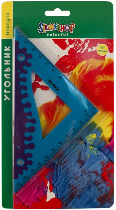 Silwerhof Угольник Colorful 45 градусов 12 см540091Угольник Silwerhof Colorful станет вашим незаменимым помощником.Угольник выполнен из непрозрачного цветного пластика с ровной четкой миллиметровой шкалой делений по двум сторонам до 12 см. Имеет прорезиненный корпус.