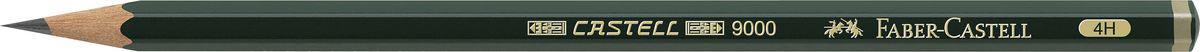 Faber-Castell Чернографитовый карандаш Castell 9000 твердость 4H72523WDЧернографитовый карандаш Faber-Castell Castell 9000 предназначен не только для письма, но и для эскизов и рисования.Специальная SV технология вклеивания грифеля предотвращает его поломку при падении, а высокое качество мягкой древесины обеспечивает легкое затачивание.Такой карандаш с чистым графитом не царапает бумагу, ровно и гладко ложится, хорошо штрихует, передавая воздушность и светотени.Твердость: 4H.