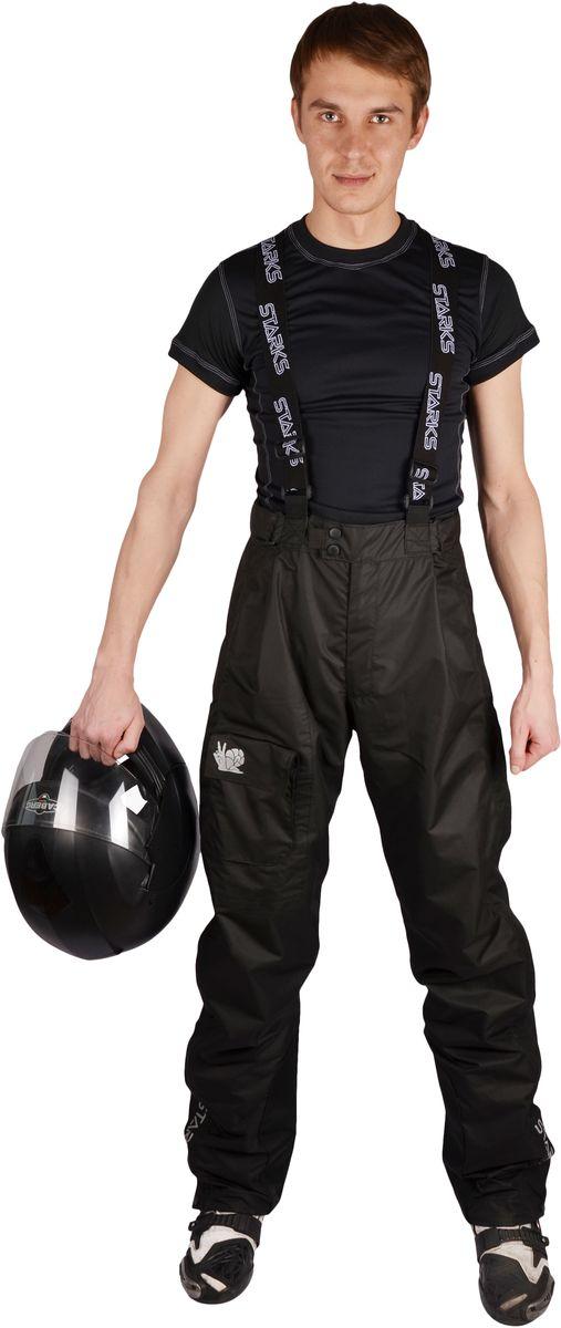 Брюки дождевые Starks Dry Rain, мужские, цвет: черный. ЛЦ0050. Размер Lone116Мембранный дождевые брюки Starks Dry Rain разработаны для экстремальных условий эксплуатации и высокой влажности. Топовая мембрана 10 000 c отделкой Teflon от DuPont, рассчитана на высокую влажность. Сетчатая подкладка. Активное выведение пара изнутри, 100% защита от протекания снаружи. Все швы изготовлены в замок и герметизированы лентой.Светоотражающие элементы со всех сторон добавят пассивной безопасности в пасмурную погоду. Все молнии водонепроницаемые. Основные молнии закрыты двойным ветрозащитным клапаном. Брюки на лямках. Брючина выстегивается на всю длину для удобства одевания в полевых условиях. Брючины оборудованы утяжками.Особенности: -Высококачественная мембрана с отделкой Teflon.-Светоотражающие элементы. -Сетчатая подкладка. - Брюки на лямках.- Выстегивающиеся брюки. -Утяжки и кнопки. -Герметизированные швы. Состав: 100% микрополиэфир, PU-мембрана. Отделка: Teflon.