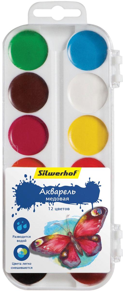 Silwerhof Акварель медовая Бабочки 12 цветовFS-00103Медовая акварель Silwerhof позволит вашему малышу проявить весь свой творческий потенциал.В наборе - двенадцать разноцветных красок. Они прекрасно подходят для детского творчества и декоративных работ по холсту, бумаге и картону. Краски мягко ложатся на бумагу, оставляя яркий и четкий цвет. Они непременно порадуют юного художника своим качеством и насыщенностью цвета, а красочная коробочка поднимет ребенку настроение!Состав: декстрин, глицерин дистиллированный, сахар, мел, пигменты, консервант, вода питьевая.