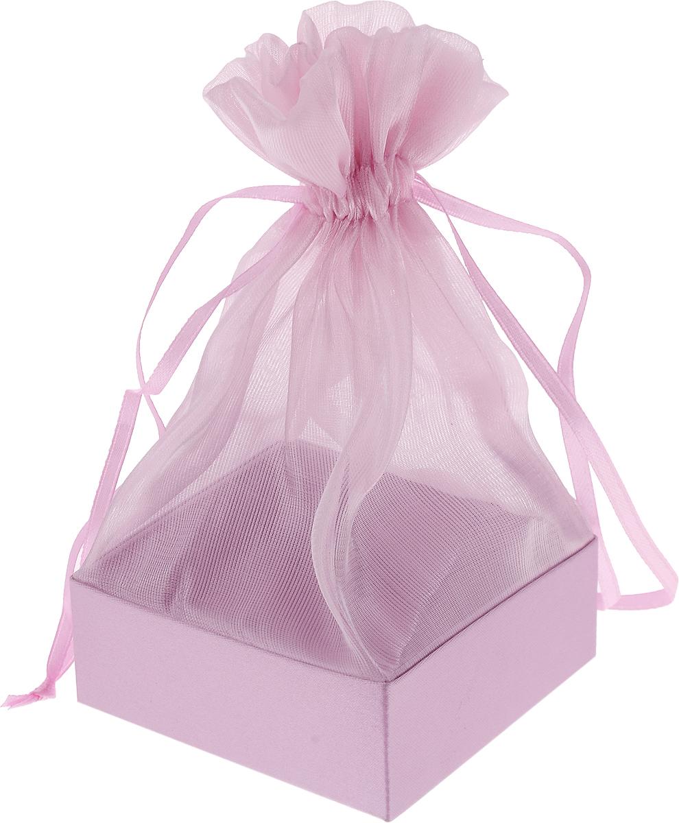 Коробочка для подарка Piovaccari Тиффани, цвет: розовый 7,5 х 7,5 х 15 см09840-20.000.00Коробочка для подарка Piovaccari Тиффани выполнена в виде мешочка из полупрозрачной органзы с квадратным основанием из твердого картона. Изделие на кулиске затягивается с помощью лент. Piovaccari Тиффани станет одним из самых оригинальных вариантов упаковки для подарка. Изысканный дизайн будет долго напоминать владельцу о трогательных моментах получения подарка.