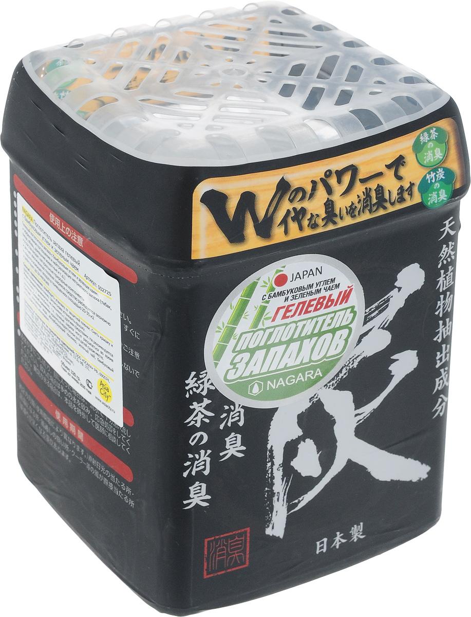 Поглотитель запаха Nagara, гелевый, с бамбуковым углем и зеленым чаем, 320 гGC204/30Гелевый поглотитель запаха эффективно устраняет и нейтрализует неприятные ароматы в помещениях благодаря двум натуральным природным компонентам: бамбуковому углю и зеленому чаю, которые обладают большой абсорбирующей способностью. За счет большого объема упаковки и увеличенного размера гелевых шариков средство расходуется очень медленно, одной упаковки хватает примерно на два месяца. Устраняет все виды запахов: от табака, домашних животных, приготовления пищи (в том числе рыбы), обуви и т.д. Рекомендуется использовать одну упаковку для одной комнаты площадью 20-35 м2. Способ применения: освободить упаковку от защитной пленки. Снять крышку и удалить алюминиевую пленку. Затем снова установить крышку. Способ хранения: хранить в недоступном для детей месте.