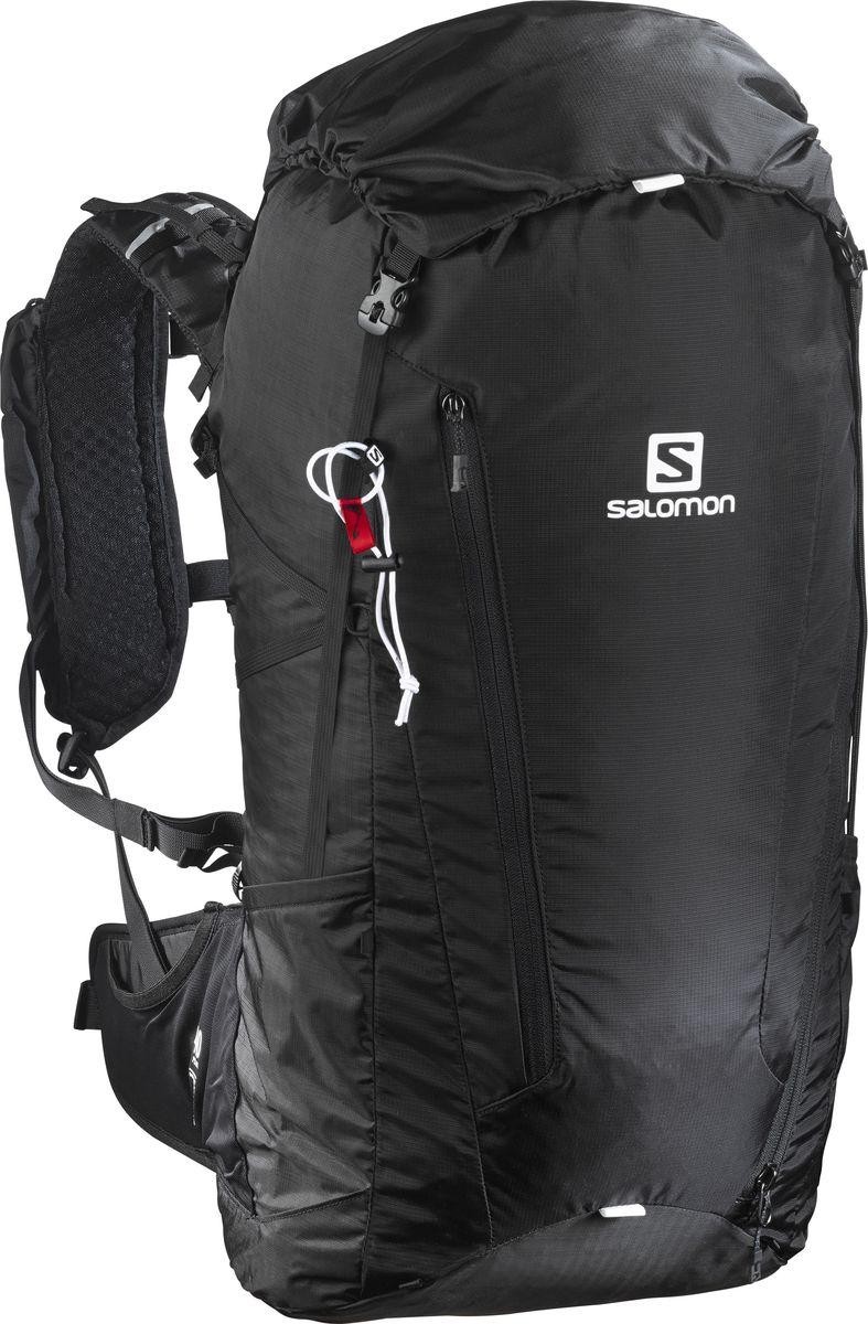 Рюкзак туристический Salomon Peak 40, цвет: черный, 40 л. L39294100L39294100Рюкзак Salomon Peak 40 выполнен из высококачественного полиамида. Рюкзак имеет одно вместительное отделение и закрывается на застежку-молнию. Рюкзак оснащен мягкими удобными лямками, длина которых регулируется с помощью пряжек. Когда приключения зовут, никогда не знаешь, где в итоге окажешься. Оказавшись на тропе, быстро понимаешь, что на самом деле тебе нужно мало вещей. Все они просто и удобно поместятся в рюкзаке Peak 40. Начните свой путь.