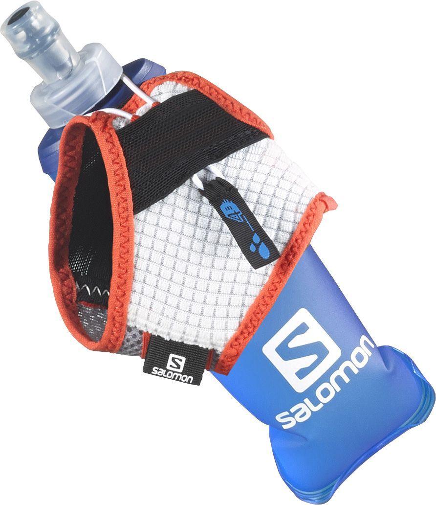 Сумка на пояс Salomon Sense Hydro Set, с бутылкой, цвет: красный, белый, серый. Размер MBFB-301 dark blueЕсли даже идеально сидящий рюкзак мешает вам в долгом забеге по тропе, Salomon Sense Hydro Set - идеальный выбор для вас. Это инновационное решение, уже полюбившееся ведущим спортсменам, удерживает на ладони мягкую фляжку любого размера и сжимает ее по мере питья, так что вам не придется делать это самим. В комплекте фляга, выполненная из ПВХ.Объем фляги: 250 мл.