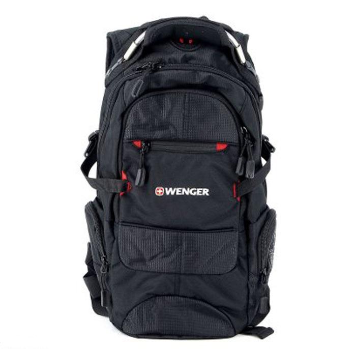 Рюкзак Wenger Narrow Hiking Pack, цвет: черный, красный, 46 х 23 х 14 см, 19 лMHDR2G/AРюкзак Wenger Narrow Hiking Pack - это самодостаточный, многофункциональный и надежный спутник своего владельца, как и знаменитый швейцарский нож! Благодаря многофункциональности рюкзака, вы можете легко организовать свои вещи, отправив ключи, мобильный телефон и еще тысячу мелочей в специальный карман-органайзер. После этого останется еще много места для других необходимых вещей. Рюкзаки и сумки Wenger - это прежде всего современные материалы и фурнитура от надежных поставщиков и швейцарский контроль качества, благодаря которому репутация компании была и остается столь высокой. Продуманная конструкция и современные технологии проявляются главным образом в потрясающей надежности рюкзаков и сумок Wenger. А ведь надежность - самое важное качество и в амуниции, и в людях! Особенности рюкзака:Внешние карманы: многочисленные внешние карманы обеспечивают легкий доступ к наиболее часто используемым предметам. Плечевые ремни: эргономичные плечевые ремни анатомической формы с регулируемыми поясным и грудным ремнями. Карман для мелких предметов: внутренний карман-органайзер включает съемную ключницу и раздельные кармашки для ручек, карандашей, мобильного телефона и CD дисков. Ручка для переноски: удобная ручка сочетает в себе высокую прочность авиационного троса и мягкость каучука. Шнурки на застежках-молниях: шнурки на застежках-молниях позволяют быстро и легко открывать карманы рюкзака даже в перчатках. Отверстия для провода наушников: внутренний карман с отверстием для ввода наушников обеспечит сохранность CD или МР3 плеера.