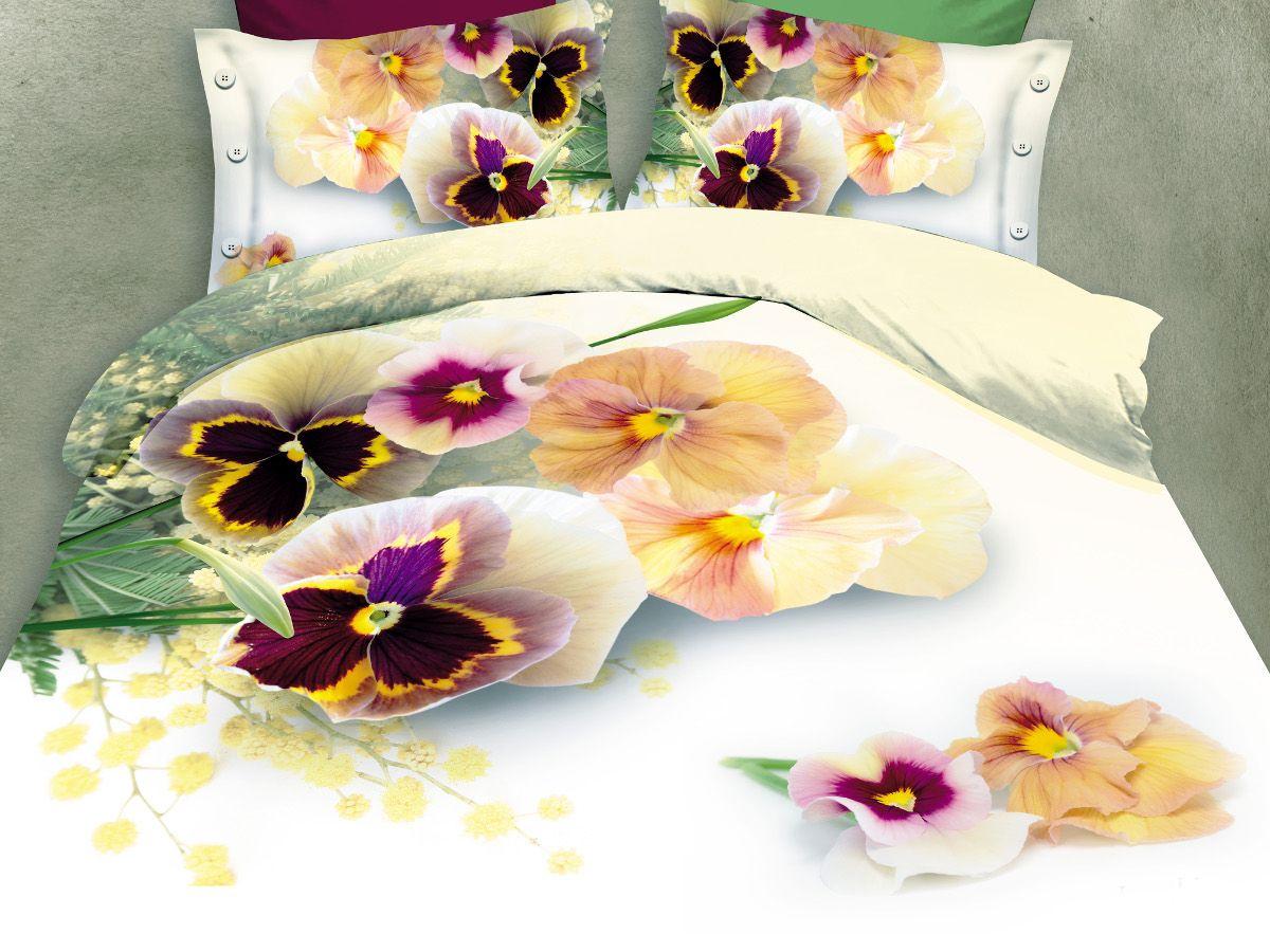 Комплект белья Cleo Виттрока, евро, наволочки 50х70, 70х70CLP446Комплект постельного белья из полисатина Cleo - это шелковая прохлада в любое время года! Тонкое, средней плотности, с шелковистой поверхностью и приятным блеском постельное белье устойчиво к износу, не выгорает, не линяет, рассчитано на многократные стирки. Двойная скрутка волокон позволяет получать довольно плотный, прочный на разрыв материал. Легко отстирывается, быстро сохнет и самой важно для хозяек - не мнется! Комплект состоит из пододеяльника, простыни и четырех наволочек.