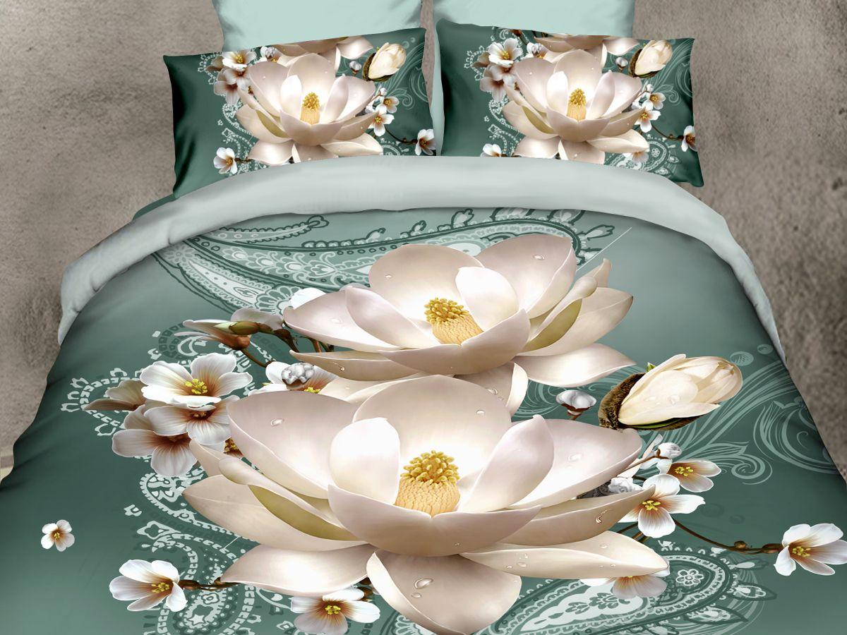 Комплект белья Cleo Лилии, 1,5-спальный, наволочки 70х70CLP446Комплект постельного белья из полисатина Cleo - это шелковая прохлада в любое время года! Тонкое, средней плотности, с шелковистой поверхностью и приятным блеском постельное белье устойчиво к износу, не выгорает, не линяет, рассчитано на многократные стирки. Двойная скрутка волокон позволяет получать довольно плотный, прочный на разрыв материал. Легко отстирывается, быстро сохнет и самой важно для хозяек - не мнется! Комплект состоит из пододеяльника, простыни и двух наволочек.