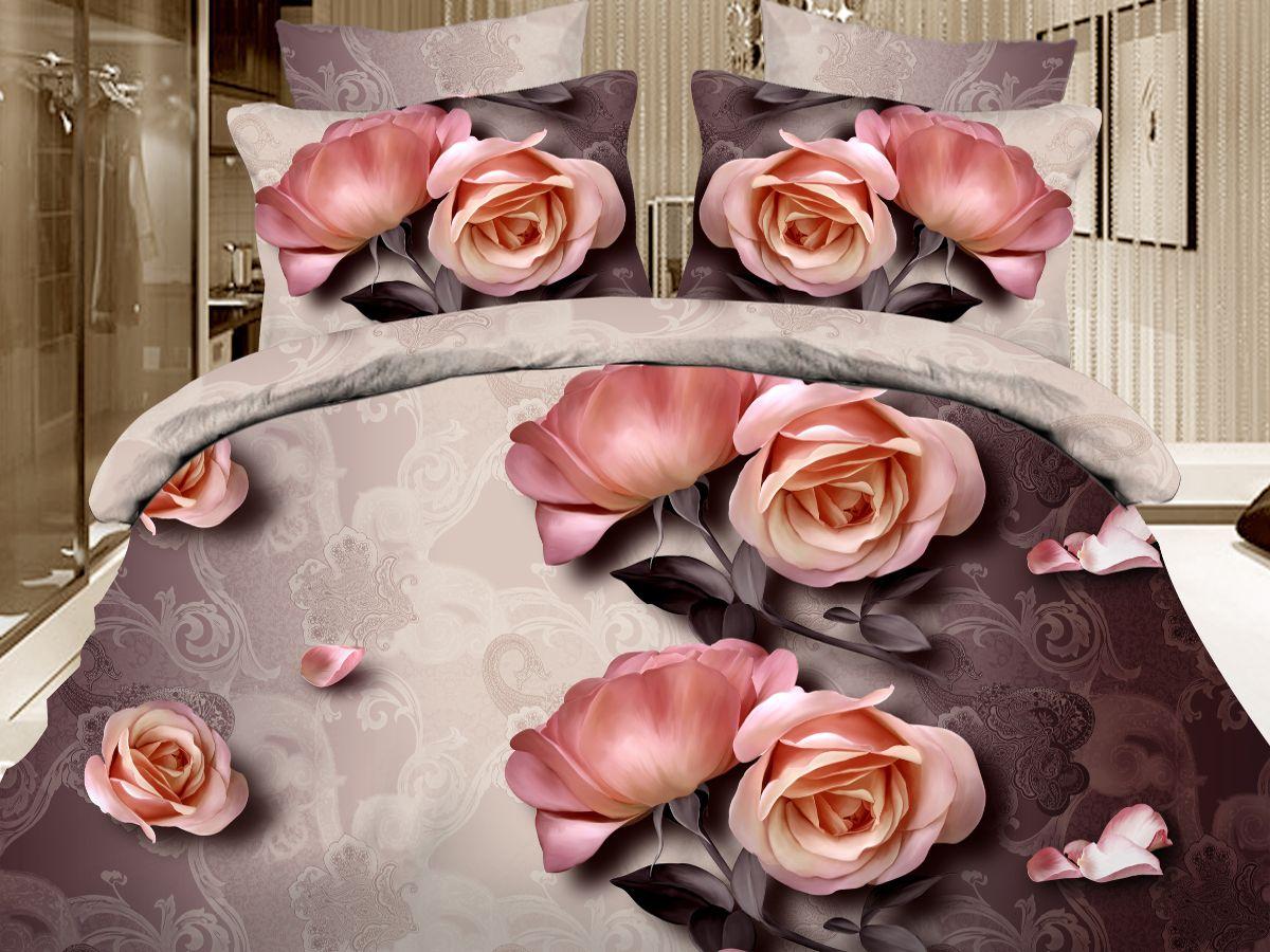 Комплект белья Cleo Кофе брейк, 1,5-спальный, наволочки 70х7010503Комплект постельного белья из полисатина Cleo - это шелковая прохлада в любое время года! Тонкое, средней плотности, с шелковистой поверхностью и приятным блеском постельное белье устойчиво к износу, не выгорает, не линяет, рассчитано на многократные стирки. Двойная скрутка волокон позволяет получать довольно плотный, прочный на разрыв материал. Легко отстирывается, быстро сохнет и самой важно для хозяек - не мнется! Комплект состоит из пододеяльника, простыни и двух наволочек.