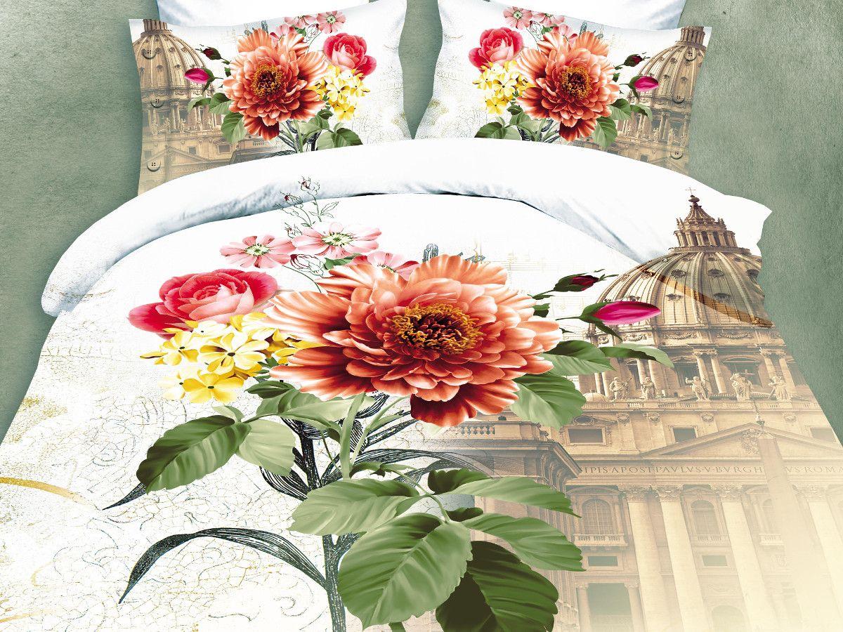 Комплект белья Cleo Римский букет, евро, наволочки 50х70, 70х70VT-1520(SR)Комплект постельного белья из полисатина Cleo - это шелковая прохлада в любое время года! Тонкое, средней плотности, с шелковистой поверхностью и приятным блеском постельное белье устойчиво к износу, не выгорает, не линяет, рассчитано на многократные стирки. Двойная скрутка волокон позволяет получать довольно плотный, прочный на разрыв материал. Легко отстирывается, быстро сохнет и самой важно для хозяек - не мнется! Комплект состоит из пододеяльника, простыни и четырех наволочек.