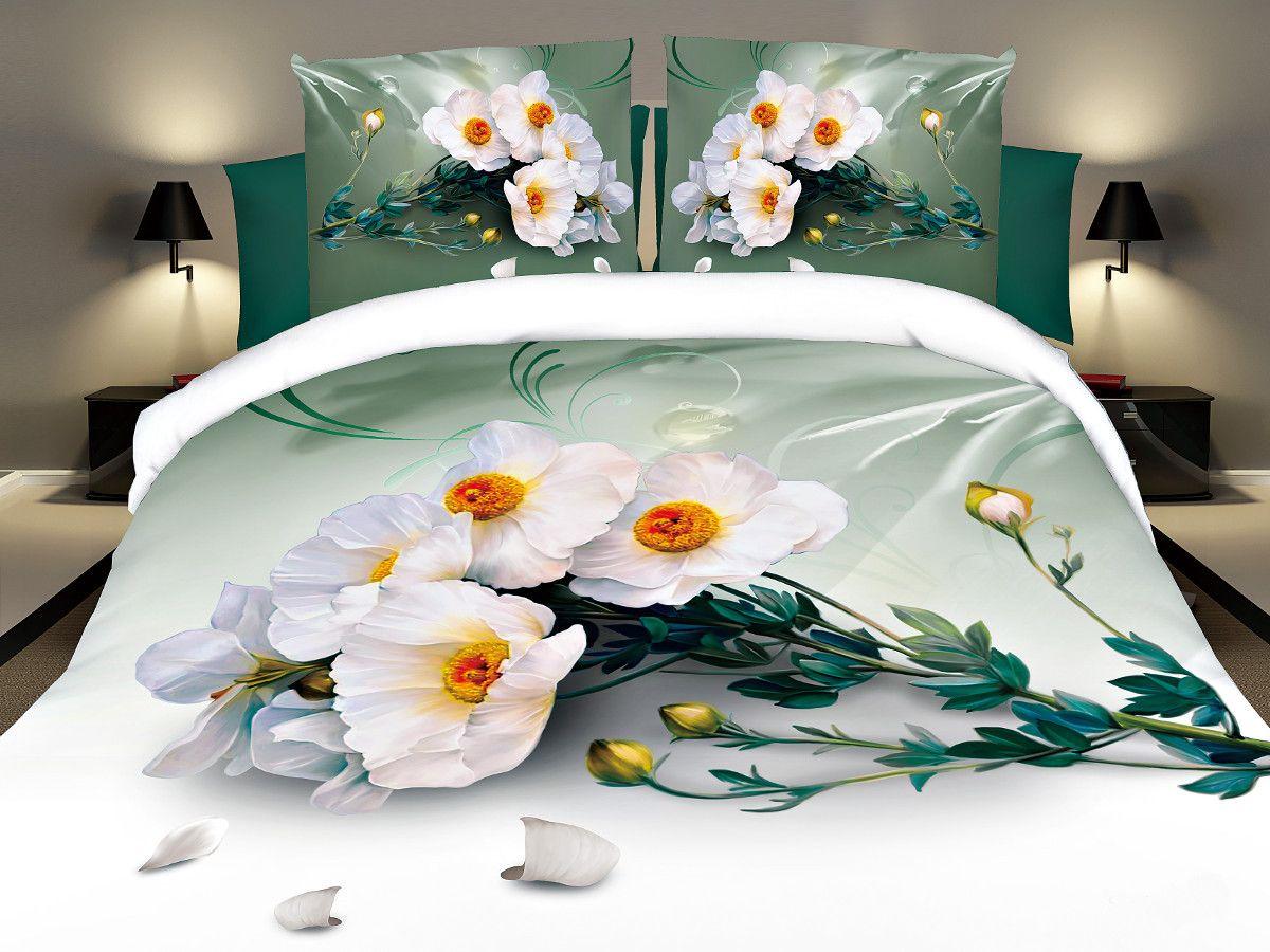 Комплект белья Cleo Невинность, 2-спальный, наволочки 70х70CLP446Комплект постельного белья из полисатина Cleo - это шелковая прохлада в любое время года! Тонкое, средней плотности, с шелковистой поверхностью и приятным блеском постельное белье устойчиво к износу, не выгорает, не линяет, рассчитано на многократные стирки. Двойная скрутка волокон позволяет получать довольно плотный, прочный на разрыв материал. Легко отстирывается, быстро сохнет и самой важно для хозяек - не мнется! Комплект состоит из пододеяльника, простыни и двух наволочек.
