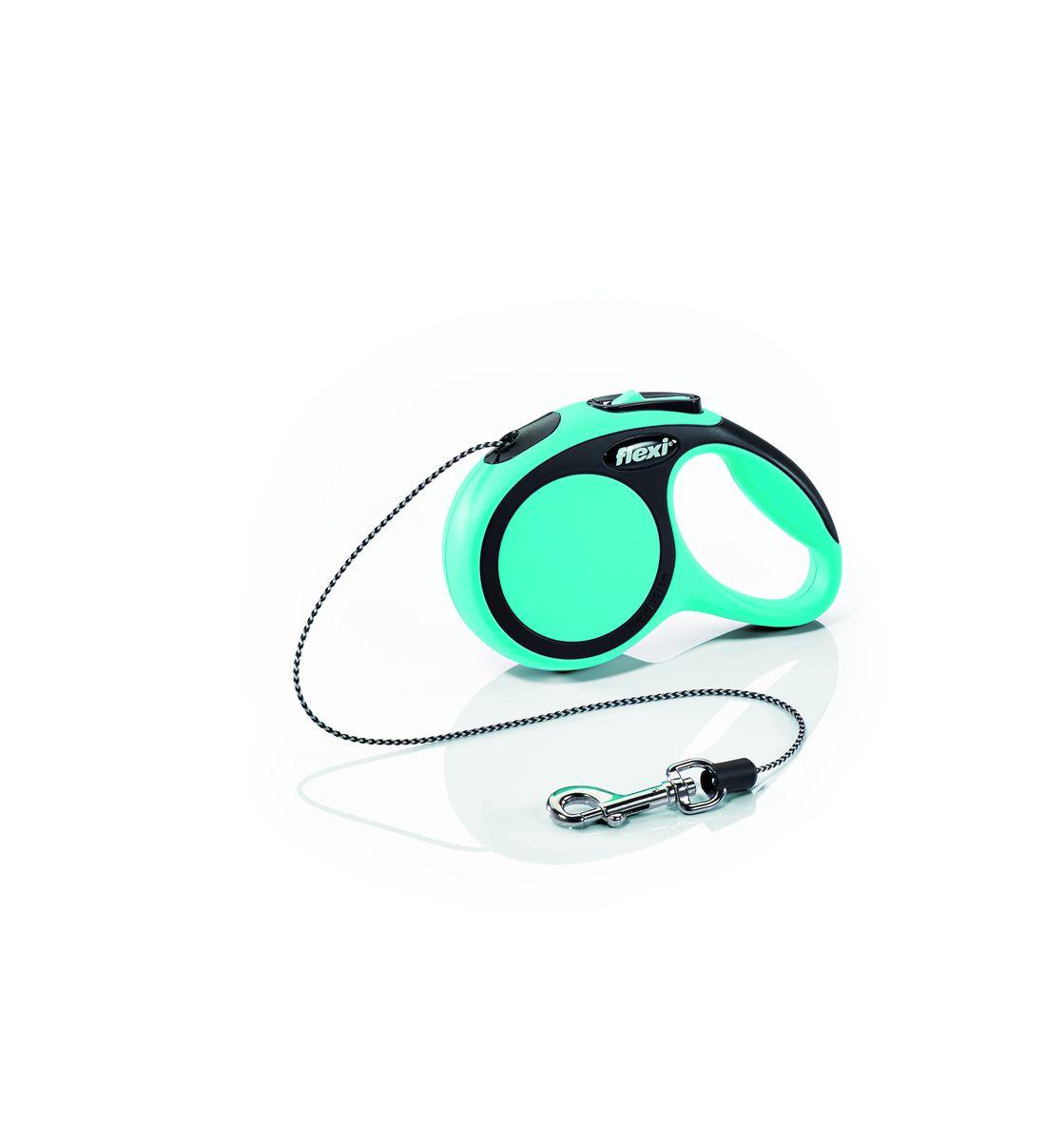Поводок-рулетка Flexi New Comfort XS, трос, для собак весом до 8 кг, цвет: черный, синий, 3 м0120710Тросовый поводок-рулетка обеспечивает каждой собаке свободу движения, что идет на пользу здоровью и радует Вашего четвероногого друга. Рулетка очень проста в использовании. Оснащена кнопками кратковременной и постоянной фиксации. Прочный корпус, хромированная застежка и светоотражающие элементы.Длина 3 м.Для собак весом до 8 кг