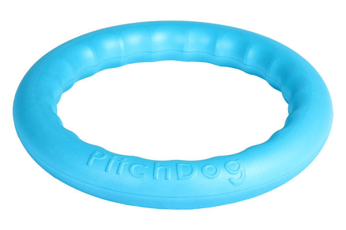 Кольцо игровое для аппортировки PitchDog, цвет: голубой, диаметр 28 см0120710Инновационная игрушка для собак всех пород и возрастов, предназначенная как для повседневной игры, так и для использования в качестве идеального апортировочного снаряда для занятий Pitch & Go (питч энд гоу). Изготовлена из особого легкого и безопасного материала, который очень нравится собакам и позволяет играть с PitchDog (ПитчДог) как на суше, так и в воде.Диаметр 28 см.