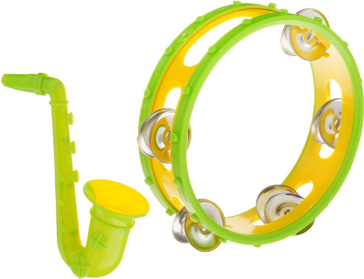 Best'ценник Набор музыкальных инструментов цвет желтый салатовый 2 предмета