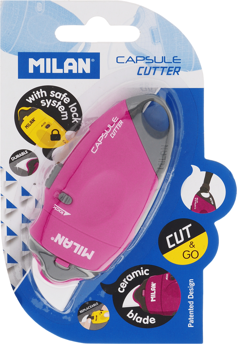 Milan Нож канцелярский с керамическим лезвием 18 мм цвет розовыйFS-00897Нож канцелярский Milan имеет пластиковый оригинальный корпус с керамическим лезвием 18 мм.