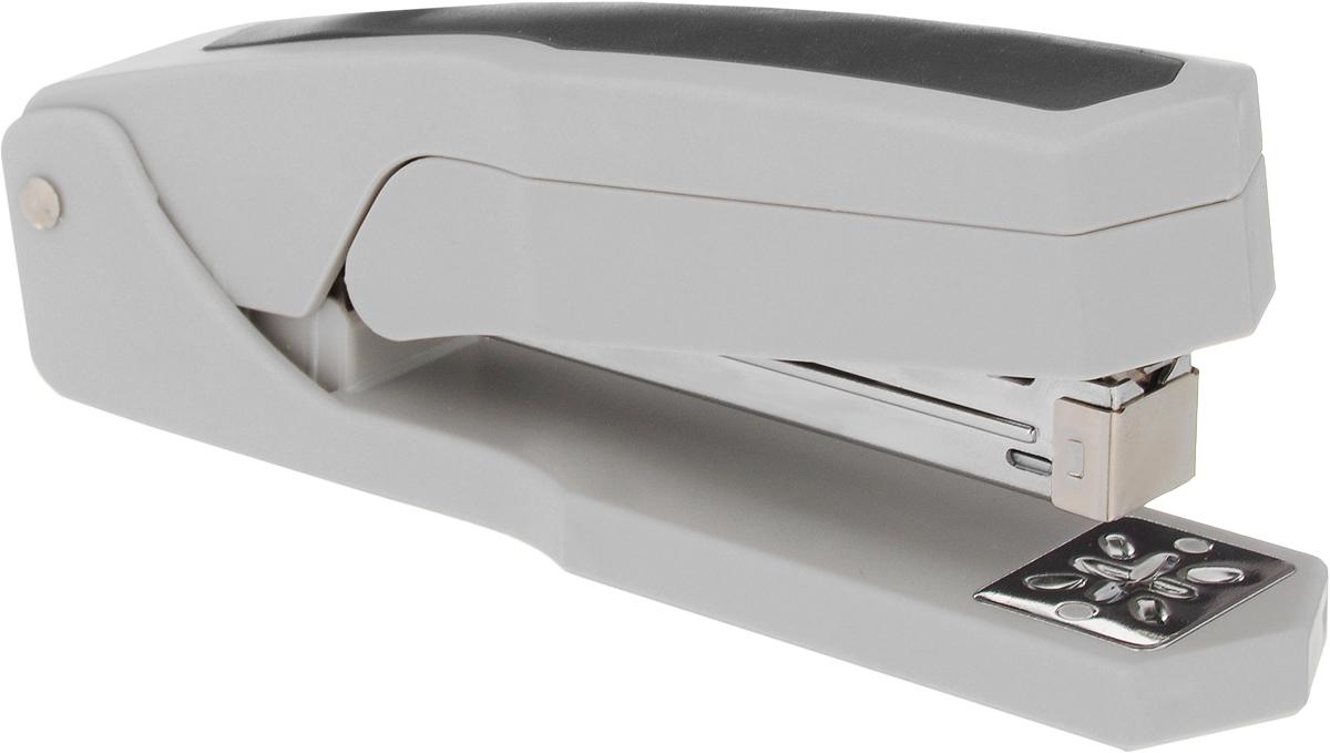 Silwerhof Степлер Ringo до 20 листов цвет серый черный401031-28Степлер Silwerhof выполнен в пластиковом корпусе с эргономичной антискользящей вставкой. У степлера имеется поворотный сшивной механизм на 360°. Возможность сшивать листы под углом 45° и 90°.Максимальная загрузка: 90 скоб №24/6-26/6.Пробивная мощность: 20 листов бумаги 80 г/м.