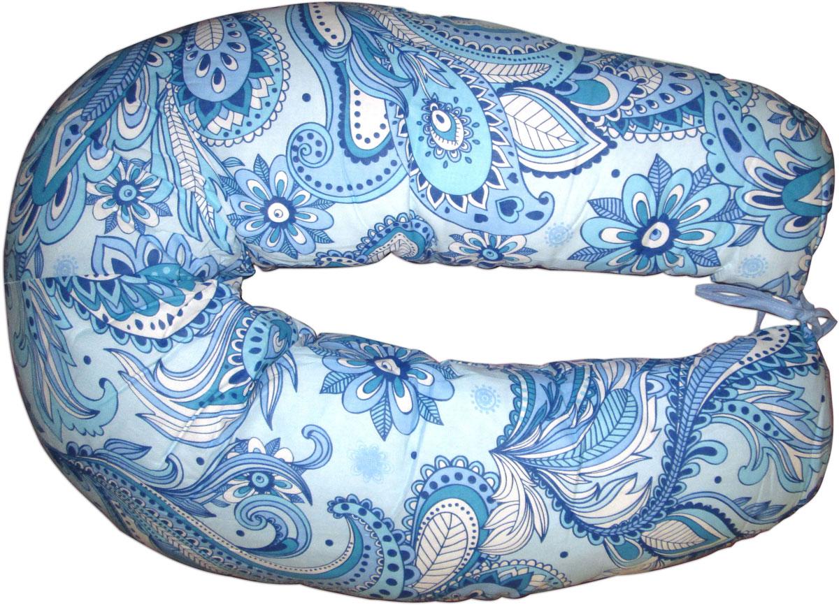 Фэст Подушка для беременных и кормящих Огурцы 1 цвет голубой
