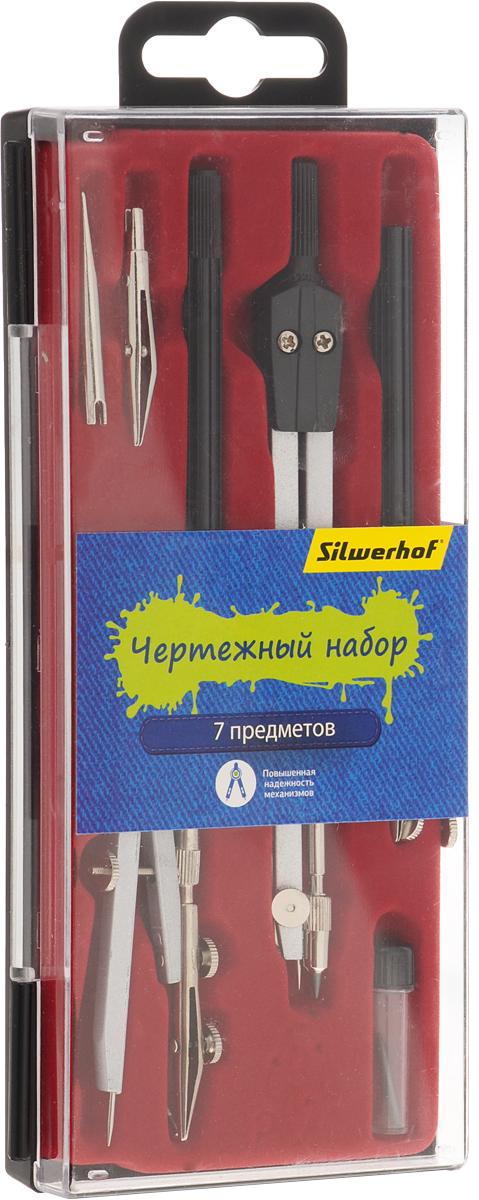 Silwerhof Готовальня Джинсовая коллекция 7 предметовFS-36054Готовальня Silwerhof содержит циркуль, кронциркуль, грифель, рейсфедерную вставку, рейсфедерную вставку в сборе, рейсфедерную ручку, игольную вставку.