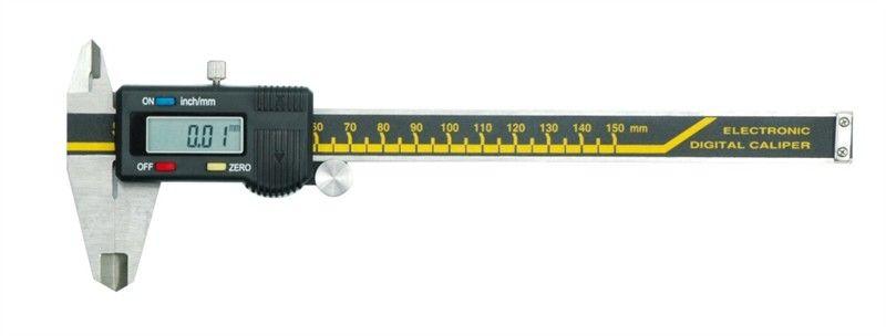 Штангенциркуль электронный Vorel, 0.05 мм/150 мм15240Цифровой штангенциркуль используется для проведения как наружных, так и внутренних измерений различных изделий или заготовок. Измерения производятся с высокой точностью ±0.03 мм. Результаты отображаются на ЖК дисплее с точностью до тысячных.