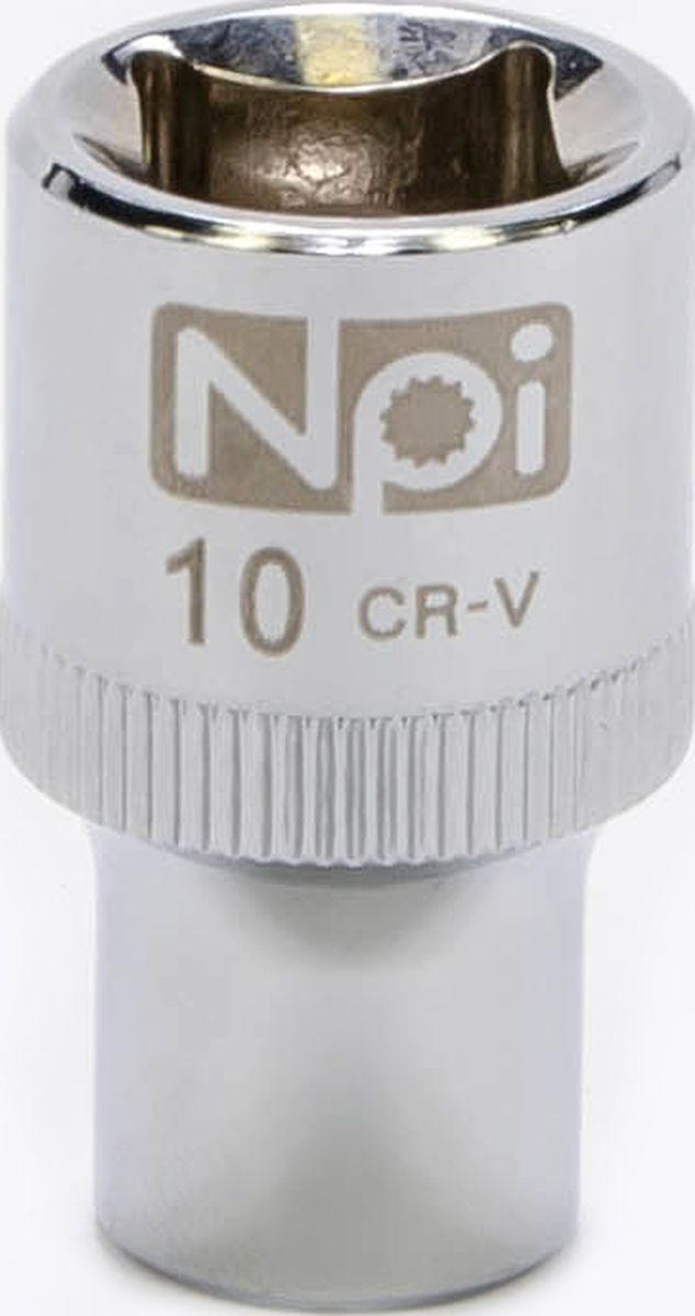 Головка торцевая NPI SuperLock, 1/2, 10 ммFS-80423Торцевая головка NPI выполнена из высокопрочная хром-ванадиевой стали и применяется с гайковертами, трещетками, воротками. Торцевая головка выполнена по технологии Суперлок. Торцевая головка обеспечивает максимальный крутящий момент по отношению к резьбе и выдерживает ударные нагрузки. Размер ключа (метрический): 10 мм.Размер ключа (дюймы): 1/2 .Посадочный размер: 1/2.Длина головки: 38 мм.