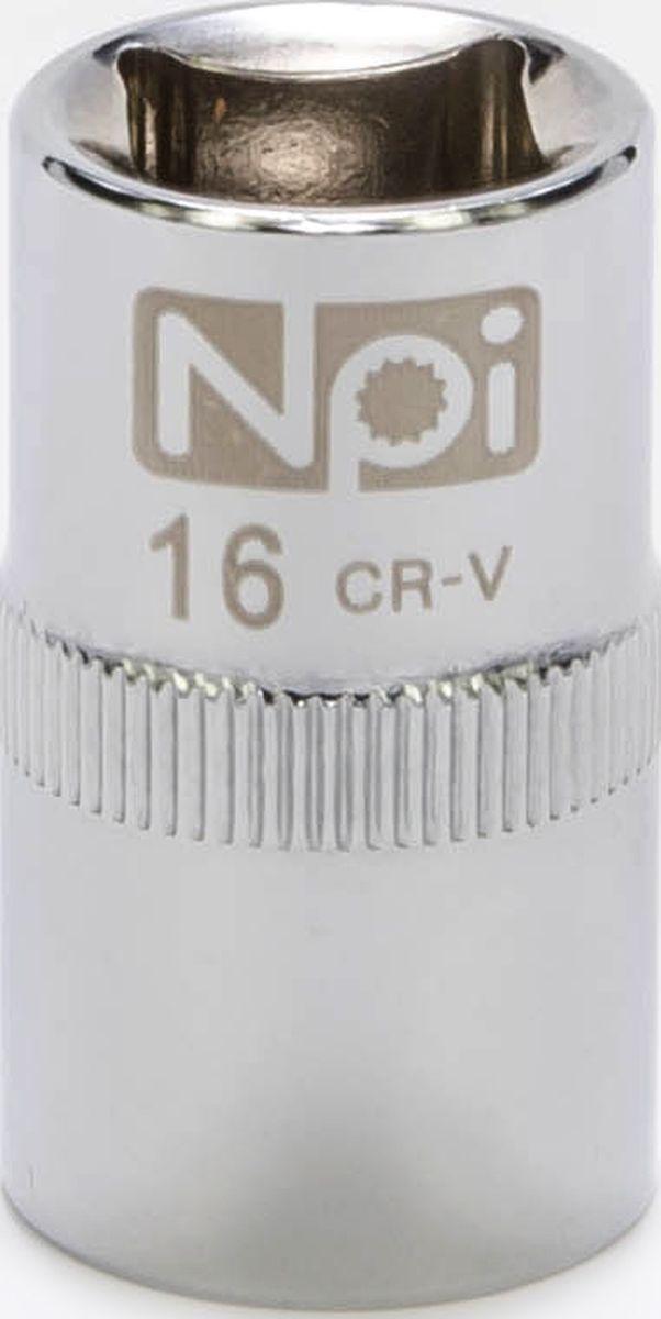 Головка торцевая NPI SuperLock, 1/2, 16 ммCA-3505Торцевая головка NPI выполнена из высокопрочная хром-ванадиевой стали и применяется с гайковертами, трещетками, воротками. Торцевая головка выполнена по технологии Суперлок. Торцевая головка обеспечивает максимальный крутящий момент по отношению к резьбе и выдерживает ударные нагрузки. Размер ключа (метрический): 16 мм.Размер ключа (дюймы): 1/2 .Посадочный размер: 1/2.Длина головки: 38 мм.Диаметр узкой части: 21 мм. Диаметр широкой части: 22 мм.