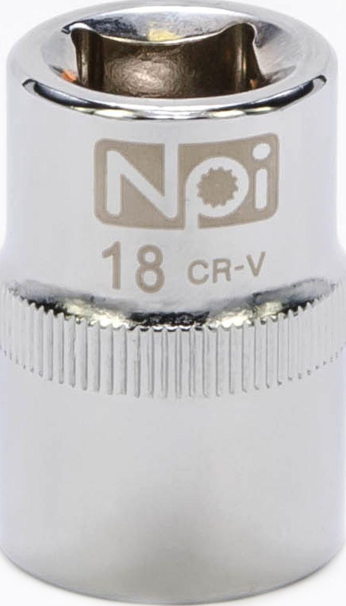 Головка торцевая NPI SuperLock, 1/2, 18 мм20018Торцевая головка NPI выполнена из высокопрочная хром-ванадиевой стали и применяется с гайковертами, трещетками, воротками. Торцевая головка выполнена по технологии Суперлок. Торцевая головка обеспечивает максимальный крутящий момент по отношению к резьбе и выдерживает ударные нагрузки. Размер ключа (метрический): 18 мм.Размер ключа (дюймы): 1/2 .Посадочный размер: 1/2.Длина головки: 38 мм.
