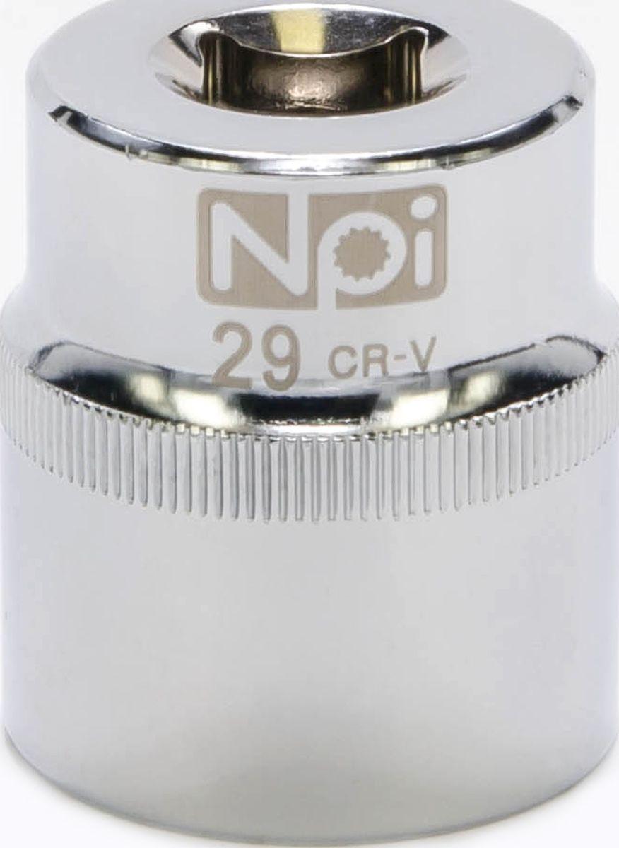 Головка торцевая NPI SuperLock, 1/2, 29 мм60475Торцевая головка NPI выполнена из высокопрочная хром-ванадиевой стали и применяется с гайковертами, трещетками, воротками. Торцевая головка выполнена по технологии Суперлок. Торцевая головка обеспечивает максимальный крутящий момент по отношению к резьбе и выдерживает ударные нагрузки. Размер ключа (метрический): 29 мм.Размер ключа (дюймы): 1/2 .Посадочный размер: 1/2.Длина головки: 44 мм.