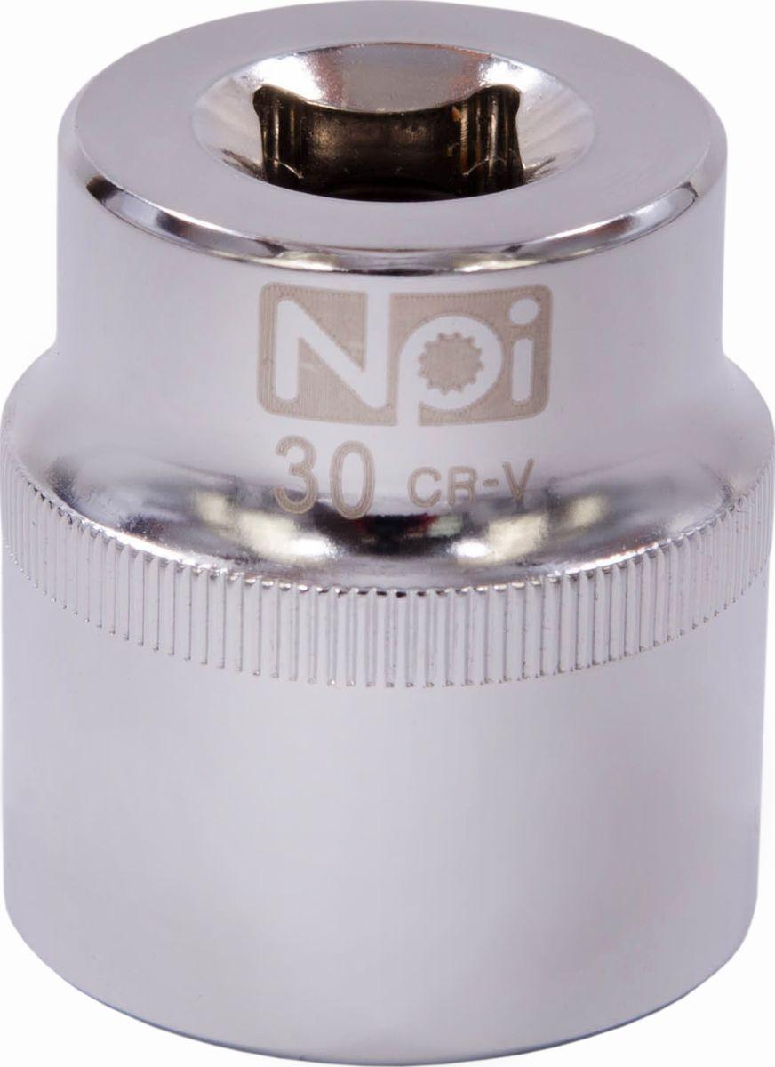 Головка торцевая NPI SuperLock, 1/2, 30 мм6271DWAEТорцевая головка NPI выполнена из высокопрочная хром-ванадиевой стали и применяется с гайковертами, трещетками, воротками. Торцевая головка выполнена по технологии Суперлок. Торцевая головка обеспечивает максимальный крутящий момент по отношению к резьбе и выдерживает ударные нагрузки. Размер ключа (метрический): 30 мм.Размер ключа (дюймы): 1/2 .Посадочный размер: 1/2.Длина головки: 44 мм.