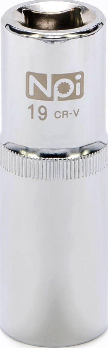 Головка торцевая удлиненная NPI, 1/2, 19 ммCA-3505Головка торцевая удлиненная NPI 1/2. Тип 1/2. Торцевая головка NPI применяется с гайковертами, трещетками, воротками. Торцевая головка выполнена по технологии Суперлок. Торцевая головка обеспечивает максимальный крутящий момент по отношению к резьбе и выдерживает ударные нагрузки. Материал - высокопрочная хром-ванадиевая сталь. Соответствует стандарту DIN 3124.
