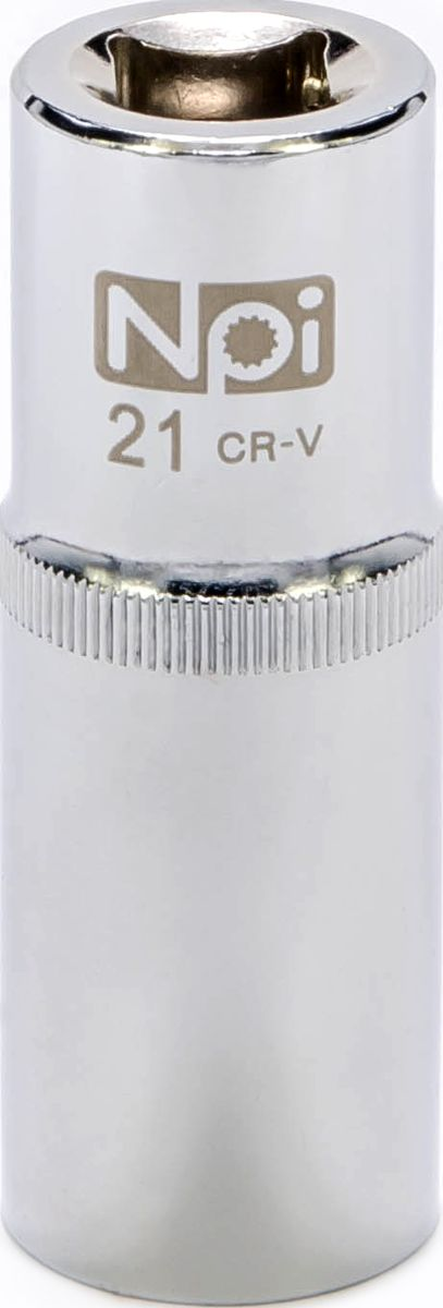 Головка торцевая NPI, удлиненная, 1/2, 21 ммDH2400D/ORТорцевая головка NPI выполнена из высокопрочной хром-ванадиевой стали и применяется с гайковертами, трещетками, воротками. Торцевая головка выполнена по технологии Суперлок. Торцевая головка обеспечивает максимальный крутящий момент по отношению к резьбе и выдерживает ударные нагрузки. Размер шестигранника: 21 мм. Высота головки: 77 мм. Размер ключа (дюймы): 1/2 .Посадочный размер: 1/2.Диаметр узкой части: 26 мм. Диаметр широкой части: 28 мм.