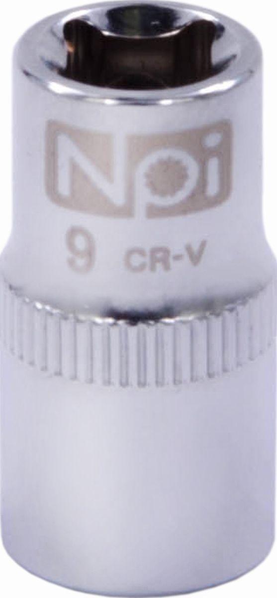 Головка торцевая NPI SuperLock, 1/4, 9 мм10105Торцевая головка NPI выполнена из высокопрочная хром-ванадиевой стали и применяется с гайковертами, трещетками, воротками. Торцевая головка выполнена по технологии Суперлок. Торцевая головка обеспечивает максимальный крутящий момент по отношению к резьбе и выдерживает ударные нагрузки. Размер ключа (метрический): 9 мм.Размер ключа (дюймы): 1/4 .Посадочный размер: 1/4.Длина головки: 25 мм.