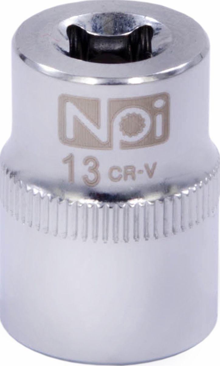 Головка торцевая NPI SuperLock, 1/4, 13 мм98295719Торцевая головка NPI выполнена из высокопрочная хром-ванадиевой стали и применяется с гайковертами, трещетками, воротками. Торцевая головка выполнена по технологии Суперлок. Торцевая головка обеспечивает максимальный крутящий момент по отношению к резьбе и выдерживает ударные нагрузки. Размер ключа (метрический): 13 мм.Размер ключа (дюймы): 1/4 .Посадочный размер: 1/4.Длина головки: 25 мм.