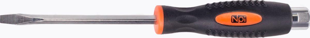 Отвертка шлицевая усиленная ударная NPI CrMo, SL 6.5 x 125 мм21395599Отвертка шлицевая усиленная ударная NPI SL 6.5x125мм CrMo. Отвертка шлицевая. Усиленная. Ударная. Длина шлица 6,5 мм. Длина жала 125 мм. Изготовлена из высокопрочной хром-молибден-ванадиевой стали. Магнитный наконечник. Эргономичная рукоятка.