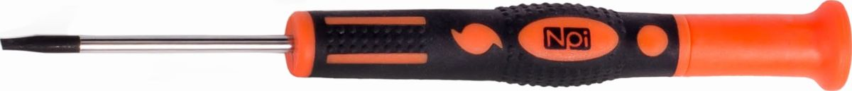 Отвертка шлицевая NPI CrMo, для точных работ, SL3 x 50 ммFS-80423Отвертка шлицевая NPI CrMo, изготовленная из высокопрочной хром-молибден-ванадиевой стали, предназначена для точных работ. Отвертка имеет магнитный наконечник и эргономичную рукоятку. Тип наконечника: SL (шлиц).Длина жала: 50 мм. Длина шлица: 3 мм.