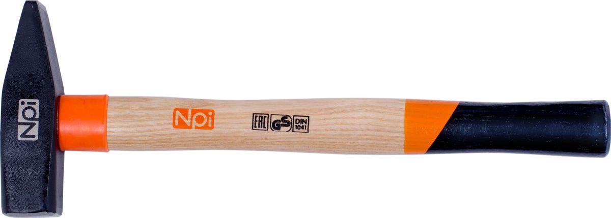 Молоток слесарный NPI, 800 гCA-3505Молоток слесарный NPI, рукоятка из ясеневой древесины , защитное кольцо на рукоятке, эргономическая форма рукоятки, боек кованный закаленный индукционным методом, крепление с помощью расклинивания, герметизация верхней части соединения бойка для защиты от рассыхания. 800 г.