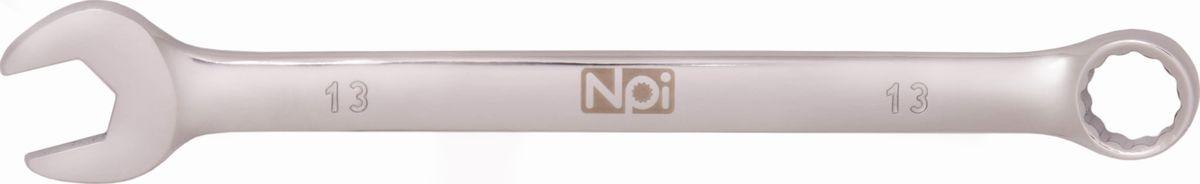 Ключ гаечный комбинированный NPI MacDrive, 13 мм45713Комбинированный гаечный ключ NPI станет отличным помощником монтажнику или владельцу автомобиля. Имеет уникальный четырехгранный зев, что обеспечивает надежную фиксацию на четырех гранях крепежа. Данная конструкция позволяет избежать повреждения крепежных элементов и способствует более легкому процессу монтажа или демонтажа. Благодаря изогнутой с одной стороны головке, вы обеспечите себе удобный и безопасный доступ к элементам крепежа. Специальная хромованадиевая сталь повышает прочность и износ инструмента.Длина ключа: 170 мм. Ширина рожковой части: 29 мм. Толщина рожковой части: 5 мм. Ширина накидной части: 20 мм. Толщина накидной части: 8 мм.