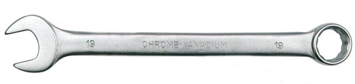 Ключ комбинированный Vorel Сатин CrV, 13 мм1161083Ключ гаечный комбинированный изготовлен из высококачественной хром-ванадиевой стали. Финишное прочное хромированное покрытие защищает ключ от воздействия коррозии, делает его более износостойким и легко очищается от загрязнений. Продуманный профиль накидной части ключа смещает пятно контакта с ребра грани на ее поверхность, что предотвращает повреждение болтов и гаек даже при самых высоких нагрузках. Эргономичный профиль рукоятки ключа позволяет развивать большее усилие без риска повреждения кистей рук.