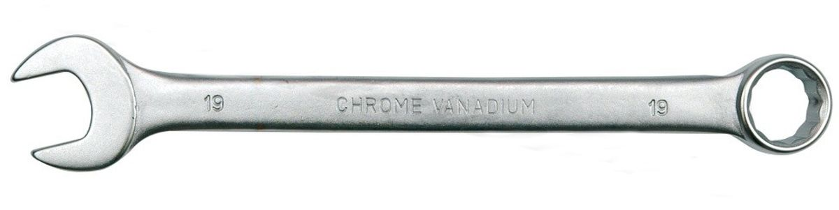 Ключ комбинированный Vorel Сатин CrV, 14 мм1690067Ключ гаечный комбинированный изготовлен из высококачественной хром-ванадиевой стали. Финишное прочное хромированное покрытие защищает ключ от воздействия коррозии, делает его более износостойким и легко очищается от загрязнений. Продуманный профиль накидной части ключа смещает пятно контакта с ребра грани на ее поверхность, что предотвращает повреждение болтов и гаек даже при самых высоких нагрузках. Эргономичный профиль рукоятки ключа позволяет развивать большее усилие без риска повреждения кистей рук.