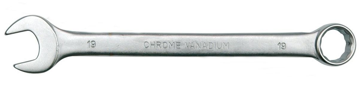 Ключ комбинированный Vorel Сатин CrV, 15 ммFS-80423Ключ гаечный комбинированный изготовлен из высококачественной хром-ванадиевой стали. Финишное прочное хромированное покрытие защищает ключ от воздействия коррозии, делает его более износостойким и легко очищается от загрязнений. Продуманный профиль накидной части ключа смещает пятно контакта с ребра грани на ее поверхность, что предотвращает повреждение болтов и гаек даже при самых высоких нагрузках. Эргономичный профиль рукоятки ключа позволяет развивать большее усилие без риска повреждения кистей рук.