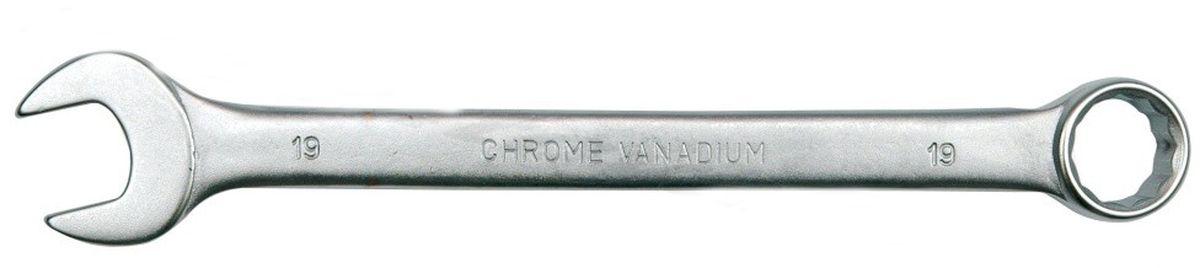 Ключ комбинированный Vorel Сатин CrV, 24 ммFS-80423Ключ гаечный комбинированный изготовлен из высококачественной хром-ванадиевой стали. Финишное прочное хромированное покрытие защищает ключ от воздействия коррозии, делает его более износостойким и легко очищается от загрязнений. Продуманный профиль накидной части ключа смещает пятно контакта с ребра грани на ее поверхность, что предотвращает повреждение болтов и гаек даже при самых высоких нагрузках. Эргономичный профиль рукоятки ключа позволяет развивать большее усилие без риска повреждения кистей рук.