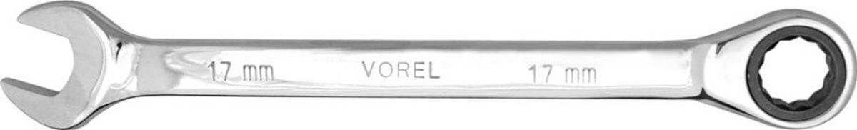 Ключ комбинированный Vorel, с трещоткой, 10 ммFS-80423Ключ комбинированный с трещоткой 10 мм предназначен для откручивания или закручивания болтов и гаек. Применяются для ремонта автомобиля специалистами в автомастерских или автолюбителями. Хром-ванадиевая сталь обеспечивает отличную износостойкость и значительно продлевает срок эксплуатации. Хромовое покрытие защищает инструмент от коррозии.