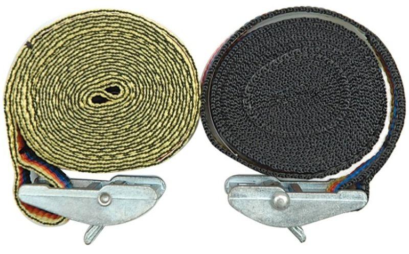 """Ремень багажный """"Vorel"""", с зажимом-фиксатором, 25 мм, 2,5 м"""