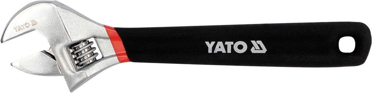 Ключ разводной Yato, с обрезинной ручкой, 250 ммCA-3505Ключ разводной YATO, длина 250 мм, обрезиненная ручка.
