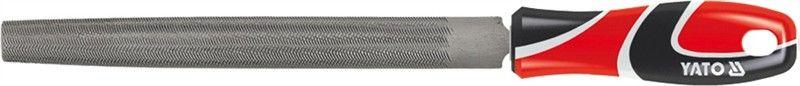 Напильник по металлу Yato, плоский, длина 20 смYT-6185Плоский напильник по металлу Yato изготовлен из металла, который на долго сохраняет остроту насечки. Напильник имеет тип насечки - личная и усиленное крепление ручки. Эргономичная двухкомпонентная рукоятка из ударопрочного пластика обеспечивает удобный и безопасный захват и предотвращает выскальзывание.Длина: 20 см.