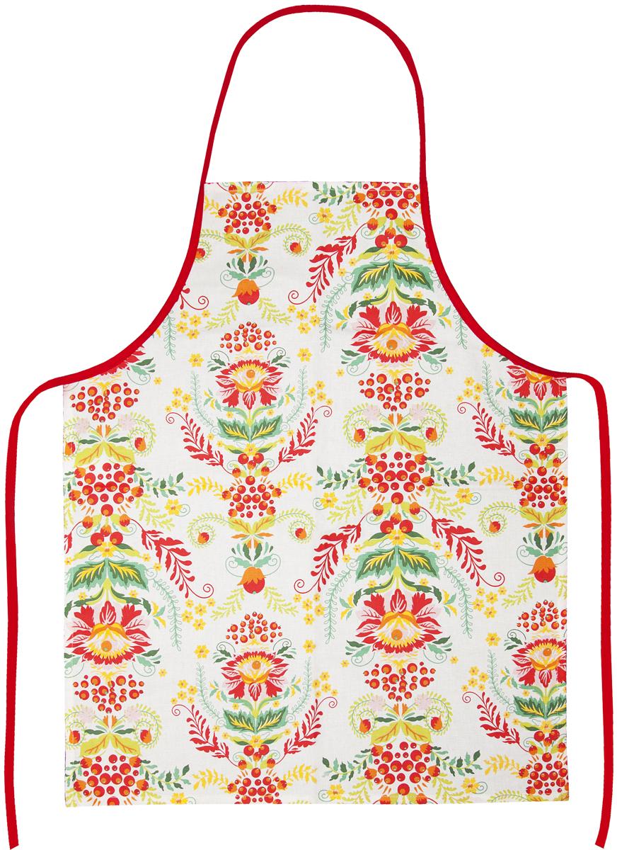 Фартук Bonita Калинка, цвет: белый, красный, оранжевый, зеленый, 56 х 69 см14010816722Фартук Bonita Калинка изготовлен из натурального хлопка и оформлен красивым цветочным рисунком. Фартук оснащен завязками и открытым карманом для мелочей. Имеет универсальный размер.Такой фартук поможет вам избежать попадания еды на одежду во время приготовления пищи. Кухня - это сердце дома, где вся семья собирается вместе. Она бережно хранит и поддерживает жизнь домашнего очага, который нас согревает. Именно поэтому так важно создать здесь атмосферу, которая не только возбудит аппетит, но и наполнит жизненной энергией. С текстилем Bonita открывается возможность не только каждый день дарить кухне новый облик, но и создавать настоящие кулинарные шедевры. Bonita станет незаменимым помощником и идейным вдохновителем, создающим вкусное настроение на вашей кухне.